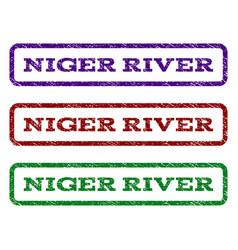 Niger river watermark stamp vector