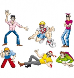 party boys set vector image