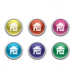 plastic home buttons vector image vector image