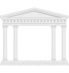 portico an ancient temple vector image vector image