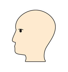 profile head brain idea vector image