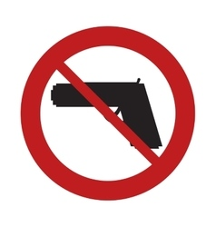 Prohibited sign road gun weapon danger arm vector