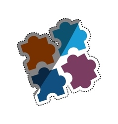 Puzzle game pieces vector image vector image