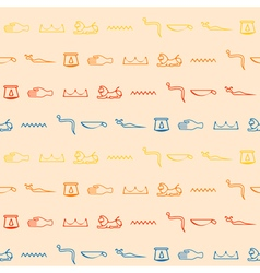 Seamless background with Egyptian hieroglyphs vector image vector image