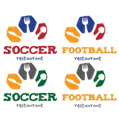 soccer and football restaurant vector image
