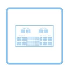 Tennis scoreboard icon vector