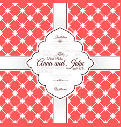 Vintage red spanish pattern invitation card vector