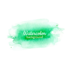 watercolor geen abstract hand painted background vector image
