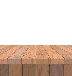 Wooden table Old vintage table in perspective vector image vector image