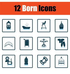 Set of born icons vector