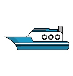 Isolated yacht ship vehicle design vector