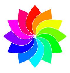 Rainbow spectrum color wheel children wind vane vector