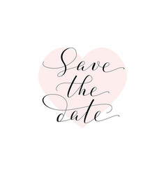 Save the date card wedding invitation template vector