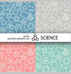 Chemistry symbols pattern vector