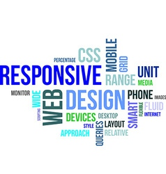 Word cloud responsive web design vector