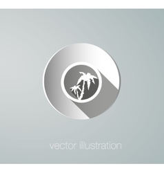 Paper icon palms vector