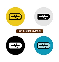 Usb charge symbol vector