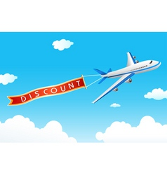 Discount tag with plane vector