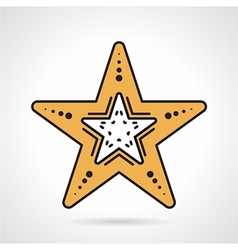 Starfish flat style icon vector