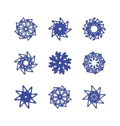 Snowflakes on a white background vector