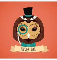 Animal hipster portrait vector image vector image