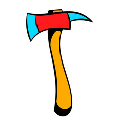 axe for a firefighter icon icon cartoon vector image