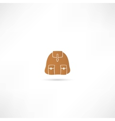 Backpack icon vector