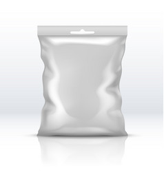 blank white foil package isolated plastic powder vector image