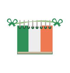 calendar date st patricks day icon vector image