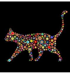 cat shape vector image vector image