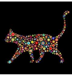 cat shape vector image