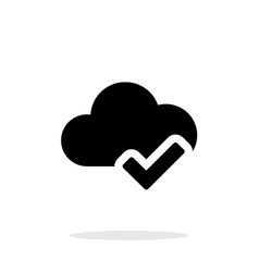 Check cloud simple icon on white background vector