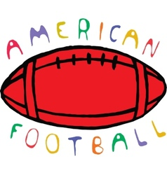 Color american football design with text vector image