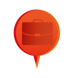 Color briefcase icon business vector