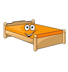 Comfortable cartoon bed vector image vector image