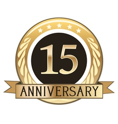 Fifteen Year Anniversary Badge vector image vector image