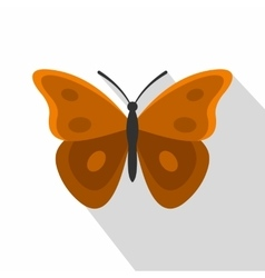 Insect butterfly with big wings icon flat style vector
