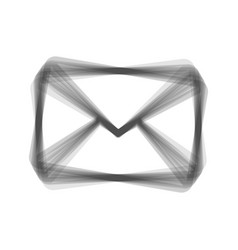 Letter sign gray icon shaked vector