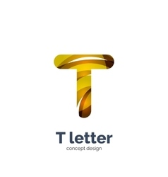Letter t logo vector