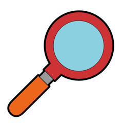 Magnifying glass isolated icon vector