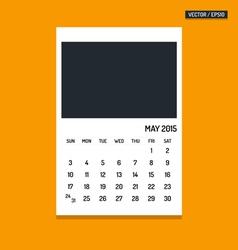 May 2015 calendar vector image vector image