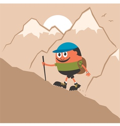 Mountaineering vector image