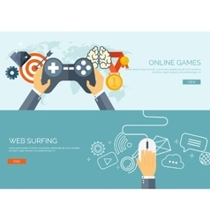 Online games joystick and vector