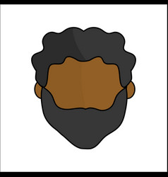 People avatar face men icon vector
