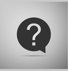 question mark in circle icon on grey background vector image