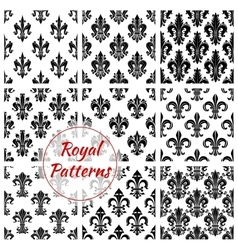 Royal french lily seamless pattern backgrounds vector
