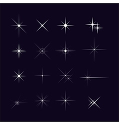 Set of sparks vector image vector image