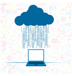 Social network background Cloud computing concept vector image