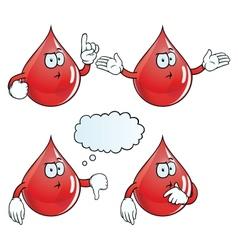 Thinking blood drop set vector image