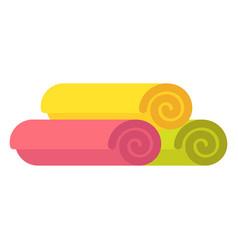 towel in rolls vector image